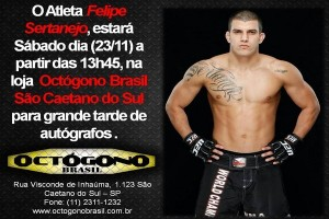 Lutador do UFC fará tarde de autógrafos neste sábado em São Caetano do Sul