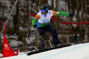 Andre Cintra faz excelente prova de Snowboard Cross em sua estreia nos Jogos Paralímpicos de Inverno, em Sochi