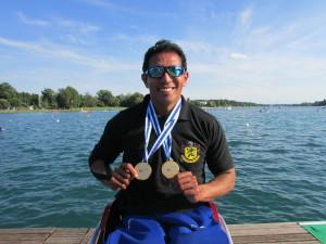 Luis Carlos Cardoso busca classificação paralímpica no caiaque